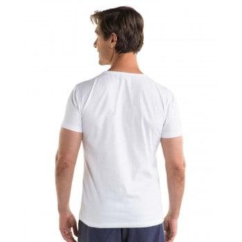 T-shirt blanc homme logo jobe