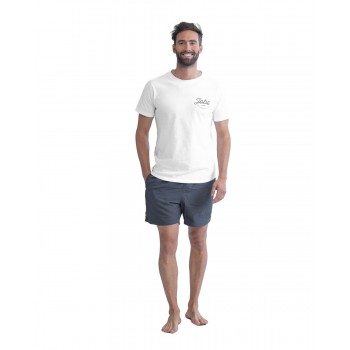 T-shirt casual blanc homme...