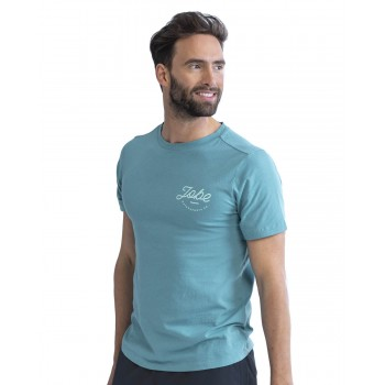 T-shirt casual vintage teal...