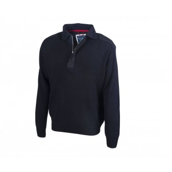 Pull Col Polo Homme - Pen...