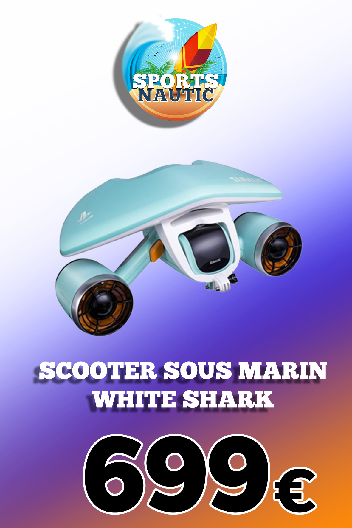 Scooter sous marin White Shark